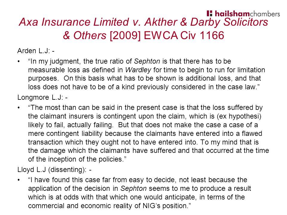 Axa Insurance Limited v.