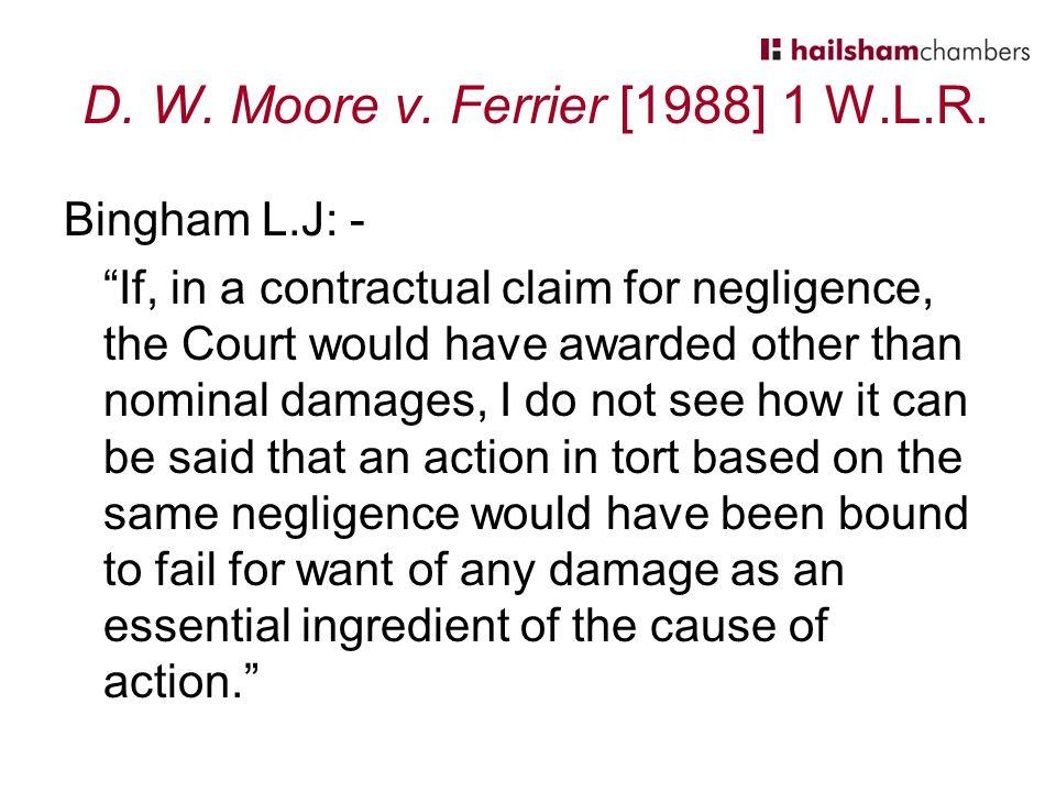 D. W. Moore v. Ferrier [1988] 1 W.L.R.