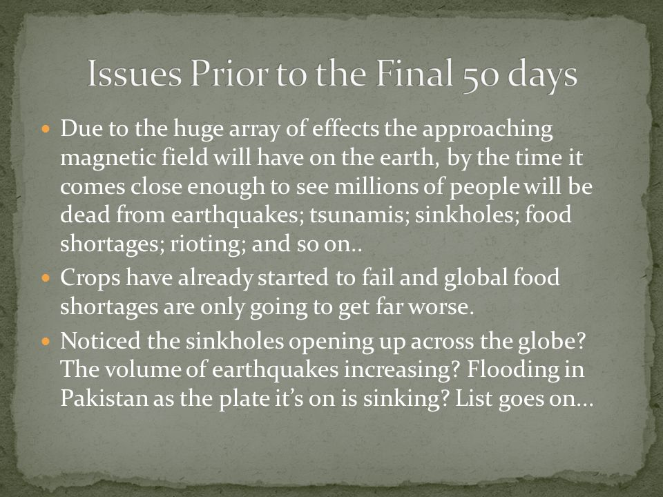 Due to the huge array of effects the approaching magnetic field will have on the earth, by the time it comes close enough to see millions of people will be dead from earthquakes; tsunamis; sinkholes; food shortages; rioting; and so on..