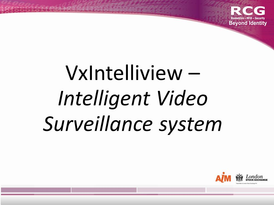 VxIntelliview – Intelligent Video Surveillance system