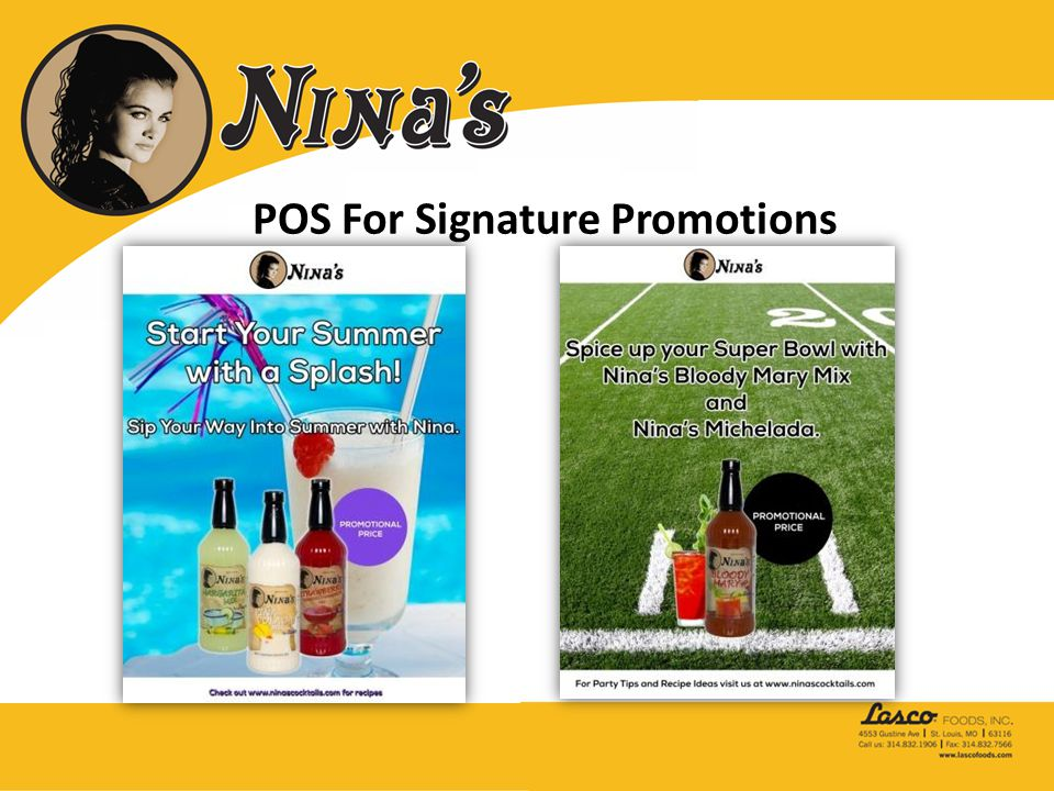 POS For Signature Promotions
