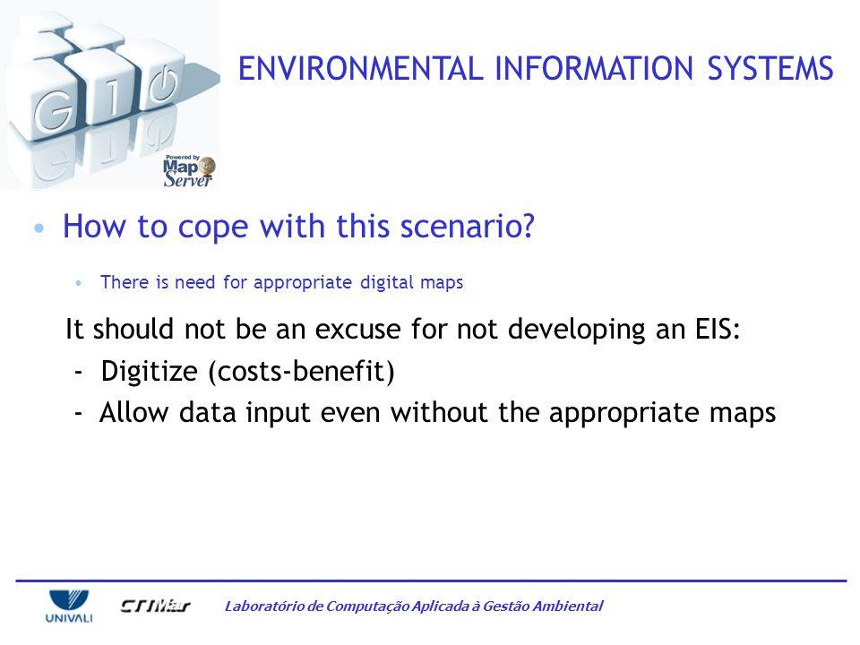 Laboratório de Computação Aplicada à Gestão Ambiental ENVIRONMENTAL INFORMATION SYSTEMS It might be obvious, but… - There is no culture for information systematization