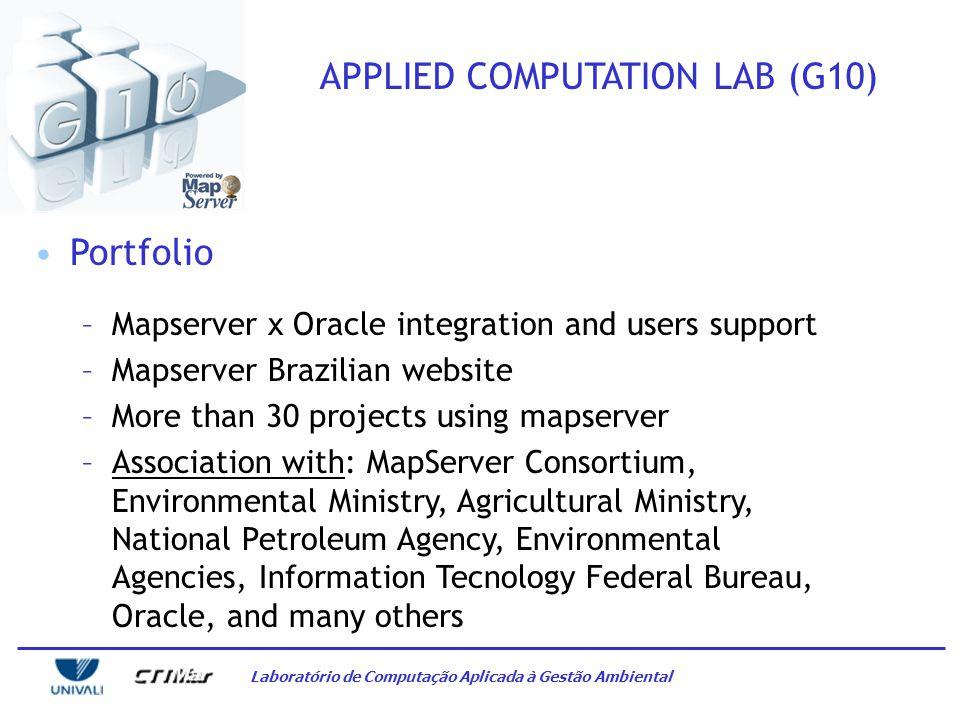 Laboratório de Computação Aplicada à Gestão Ambiental APPLIED COMPUTATION LAB (G10) Spatial support - Input areas