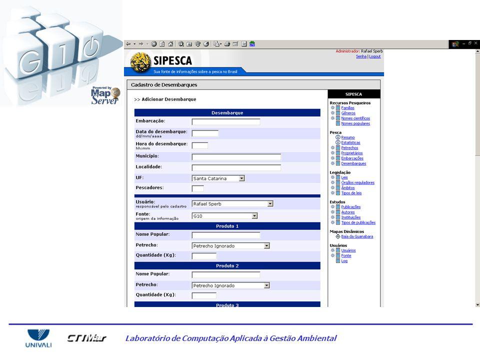 Laboratório de Computação Aplicada à Gestão Ambiental