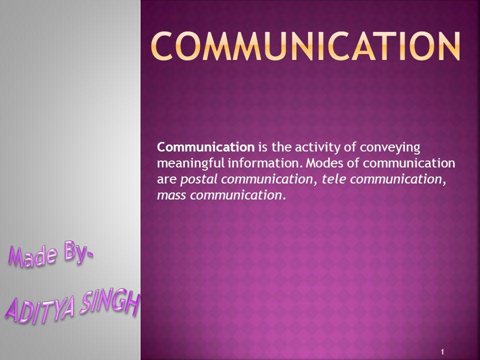 PPostal communication TTele communication MMass communication 2 Click on picture to go to the topic.