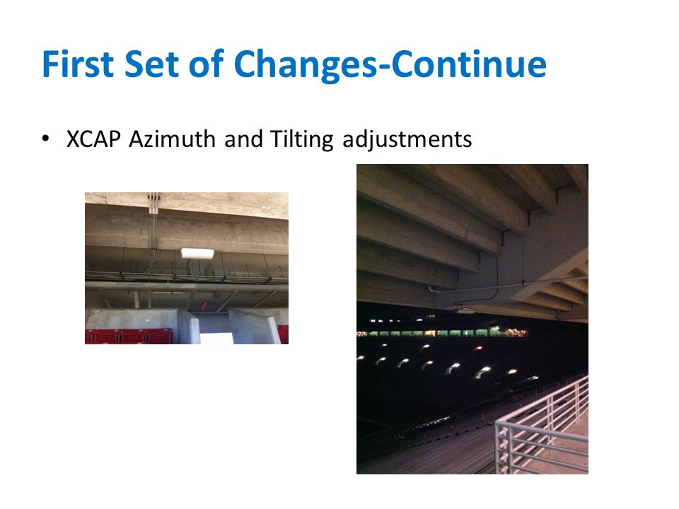 First Set of Changes-Continue XCAP Azimuth and Tilting adjustments