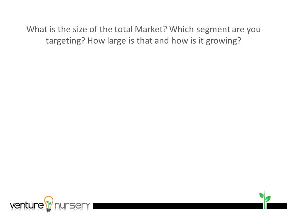 What is the size of the total Market. Which segment are you targeting.