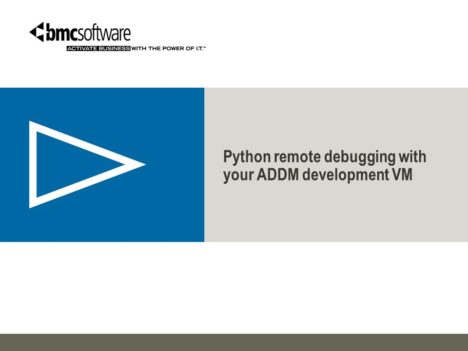PRE-REQUISITS › You need to have working ADDM dev environment.