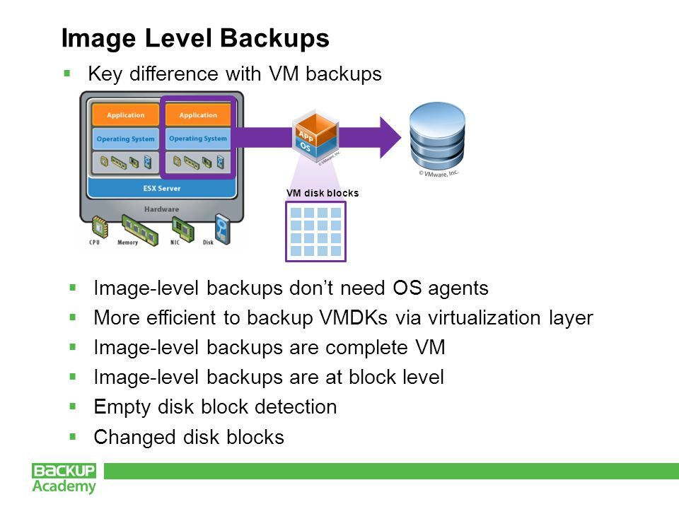 Virtual Machine Snapshots Writes are redirected Changes merged into source VM disks become read-only during a snapshot Point-in-time picture of a VM
