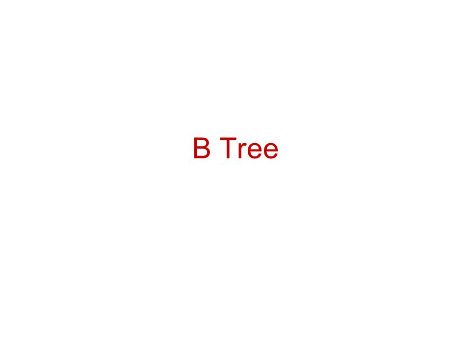 Creating an empty B tree