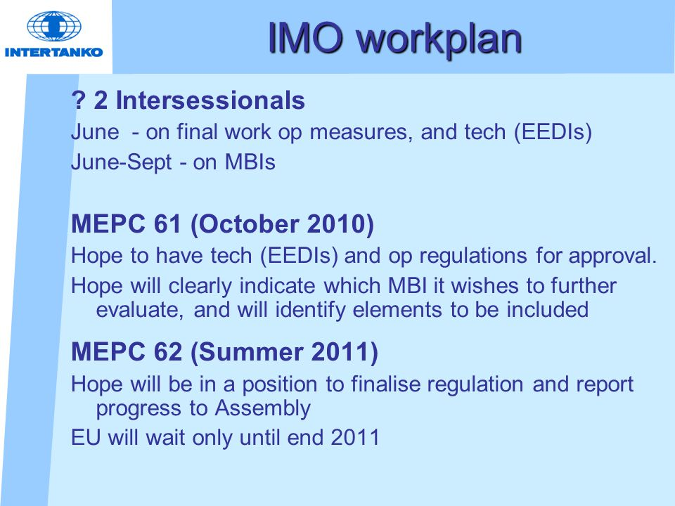 IMO workplan .