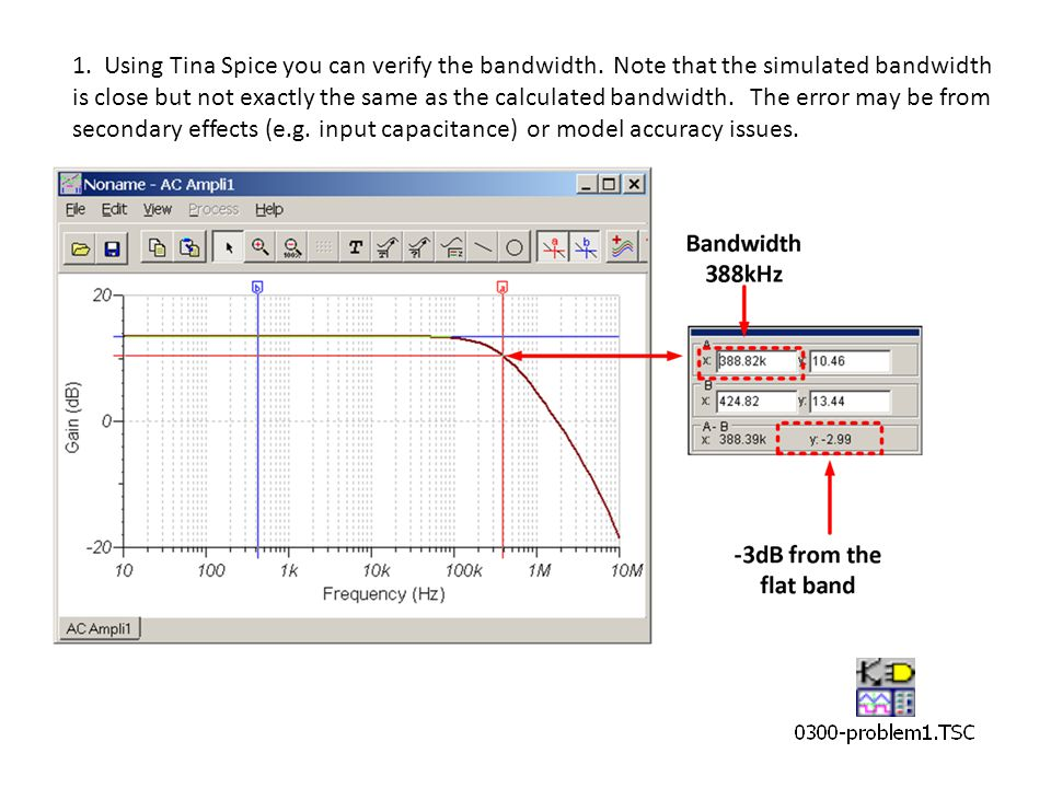 1. Using Tina Spice you can verify the bandwidth.