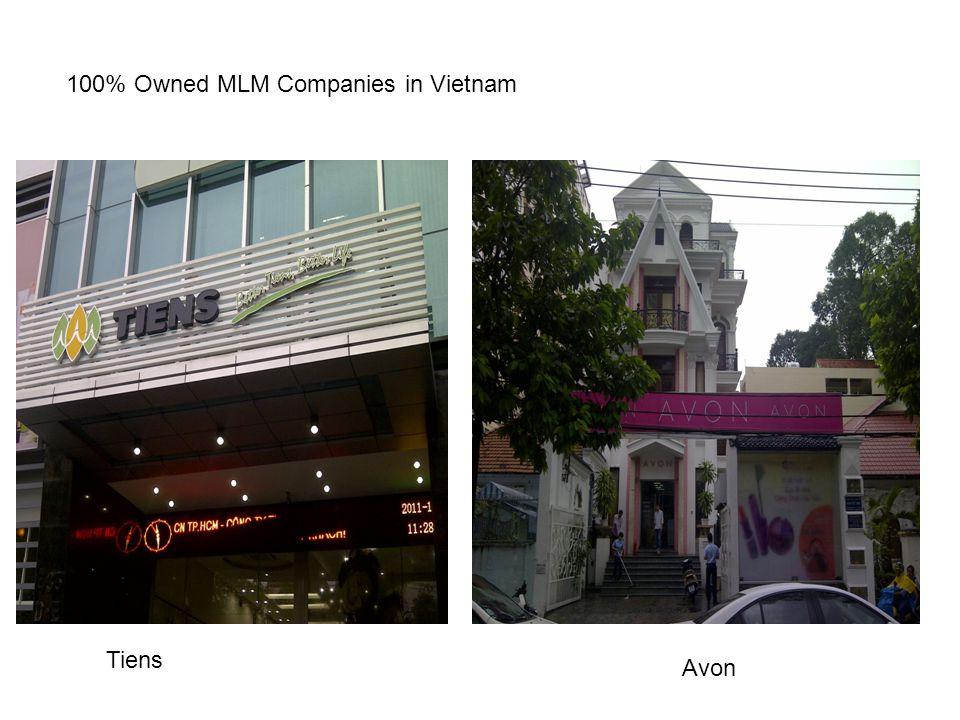 100% Owned MLM Companies in Vietnam Tiens Avon