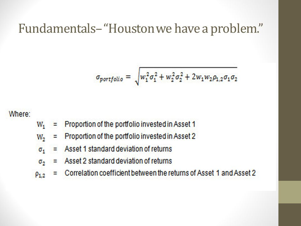 "Fundamentals– ""Houston we have a problem."""