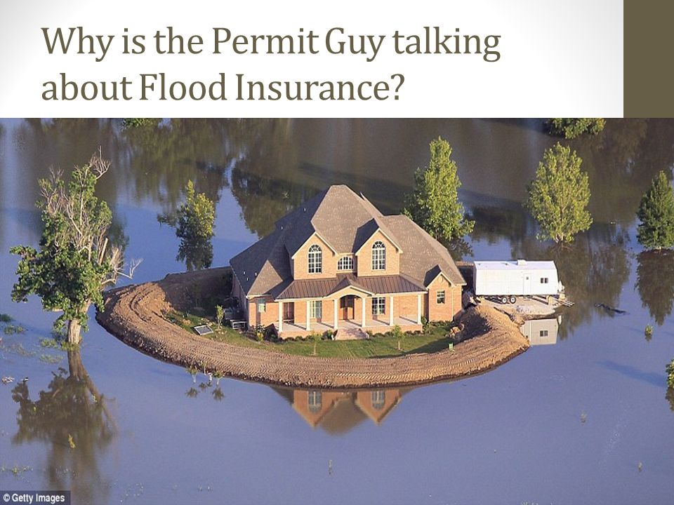 Why is the Permit Guy talking about Flood Insurance?