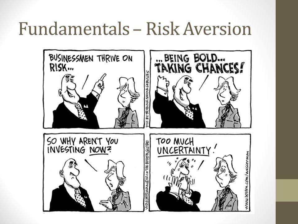 Fundamentals – Risk Aversion