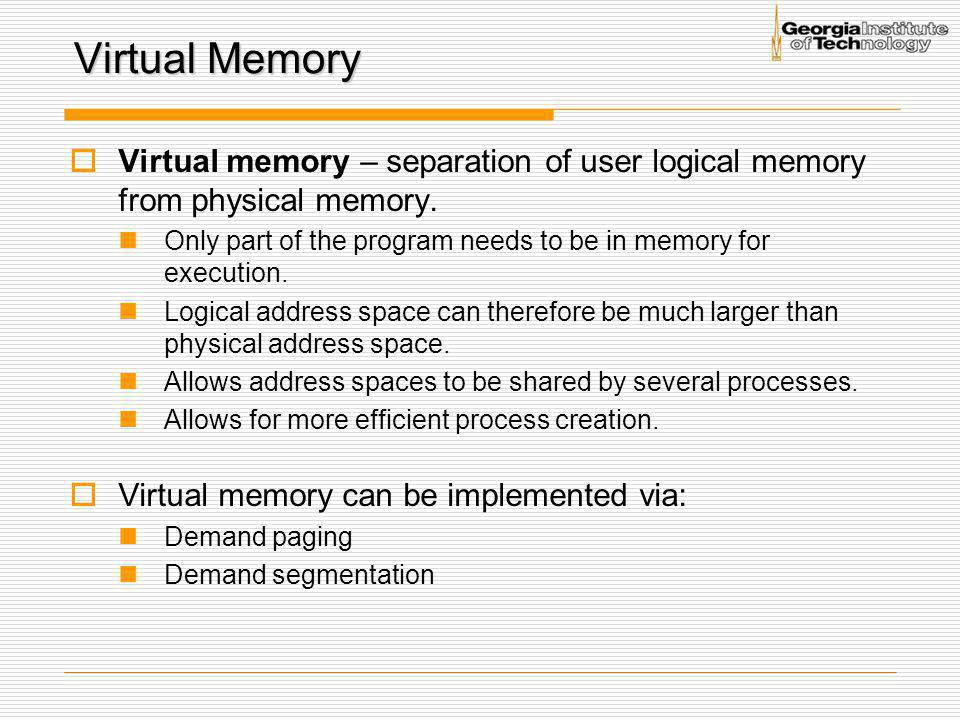Associative Memory  Associative memory – parallel search Address translation (A´, A´´) If A´ is in associative register, get frame # out Otherwise get frame # from page table in memory Page #Frame #