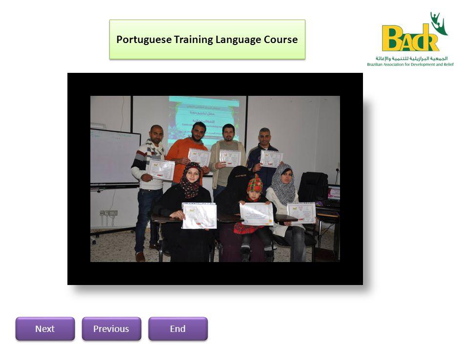 Portuguese Training Language Course Previous Next End