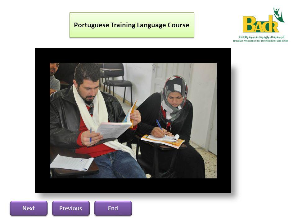 Previous Next End Portuguese Training Language Course