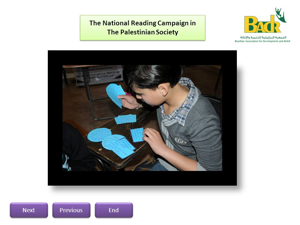 The National Reading Campaign in The Palestinian Society Previous Next End