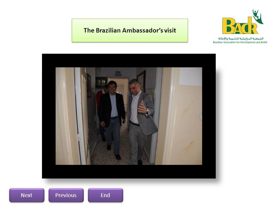 The Brazilian Ambassador's visit Previous Next End