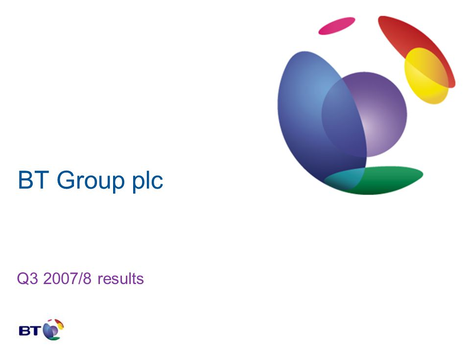 BT Group plc Q3 2007/8 results