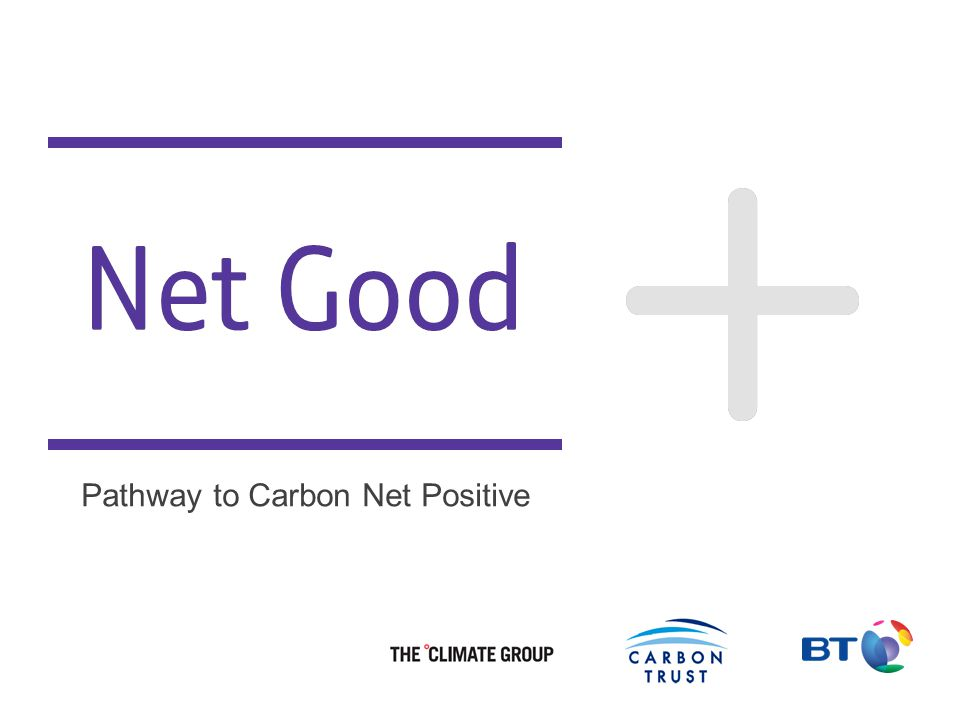 Better Future 1 Net Good Pathway to Carbon Net Positive