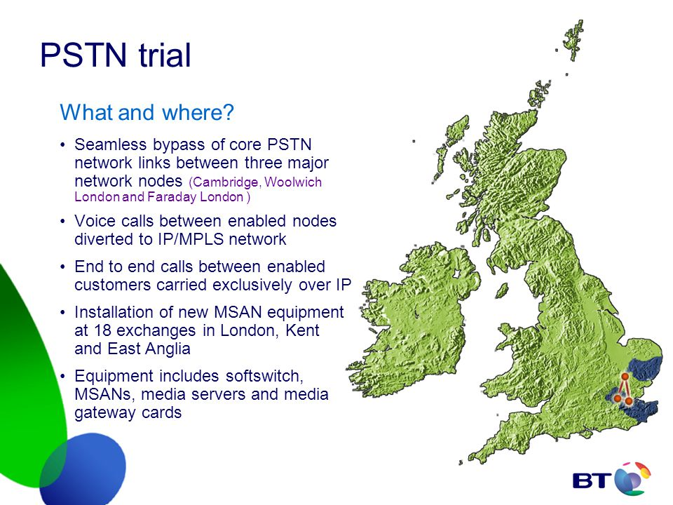 PSTN trial What and where.