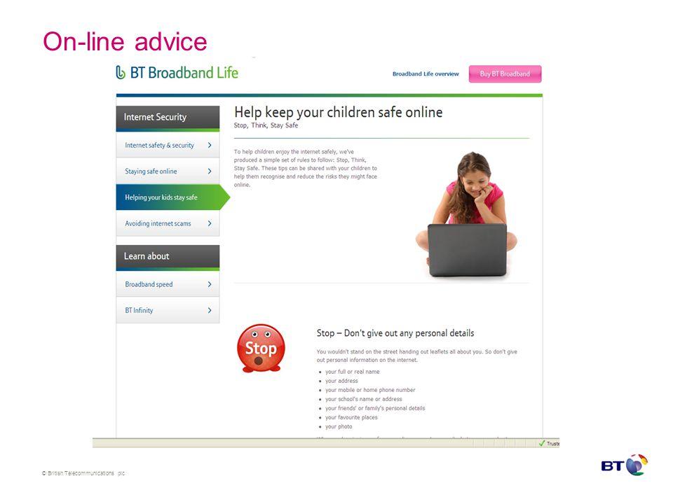© British Telecommunications plc BT Family Protection