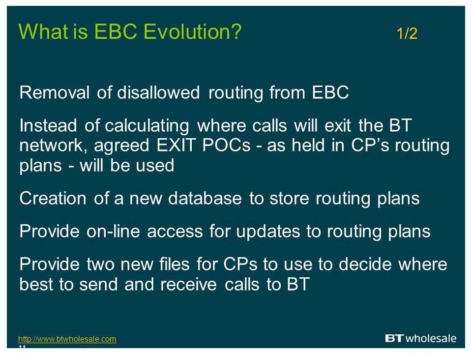 http://www.btwholesale.com http://www.btwholesale.com 11 What is EBC Evolution.