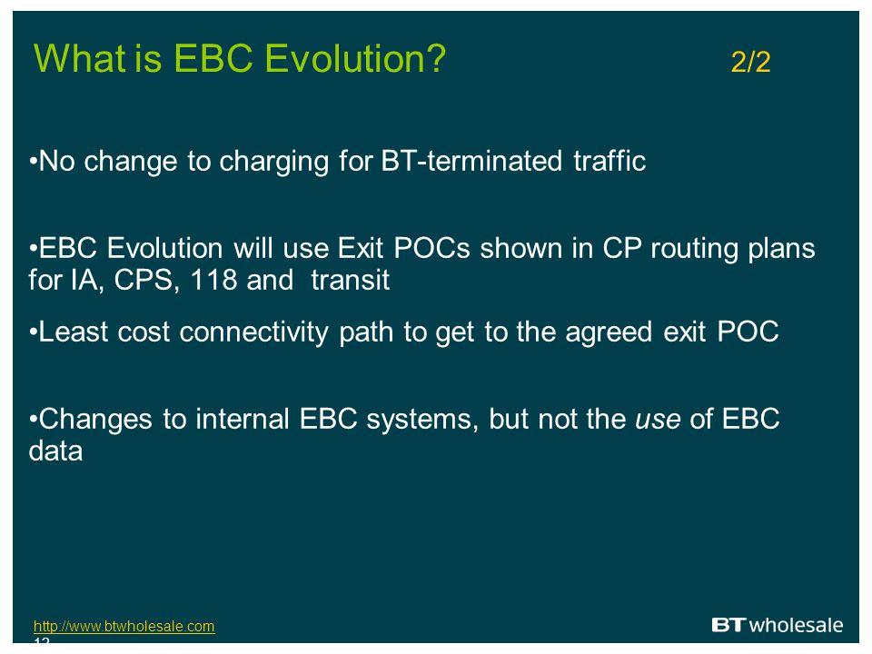 http://www.btwholesale.com http://www.btwholesale.com 12 What is EBC Evolution.