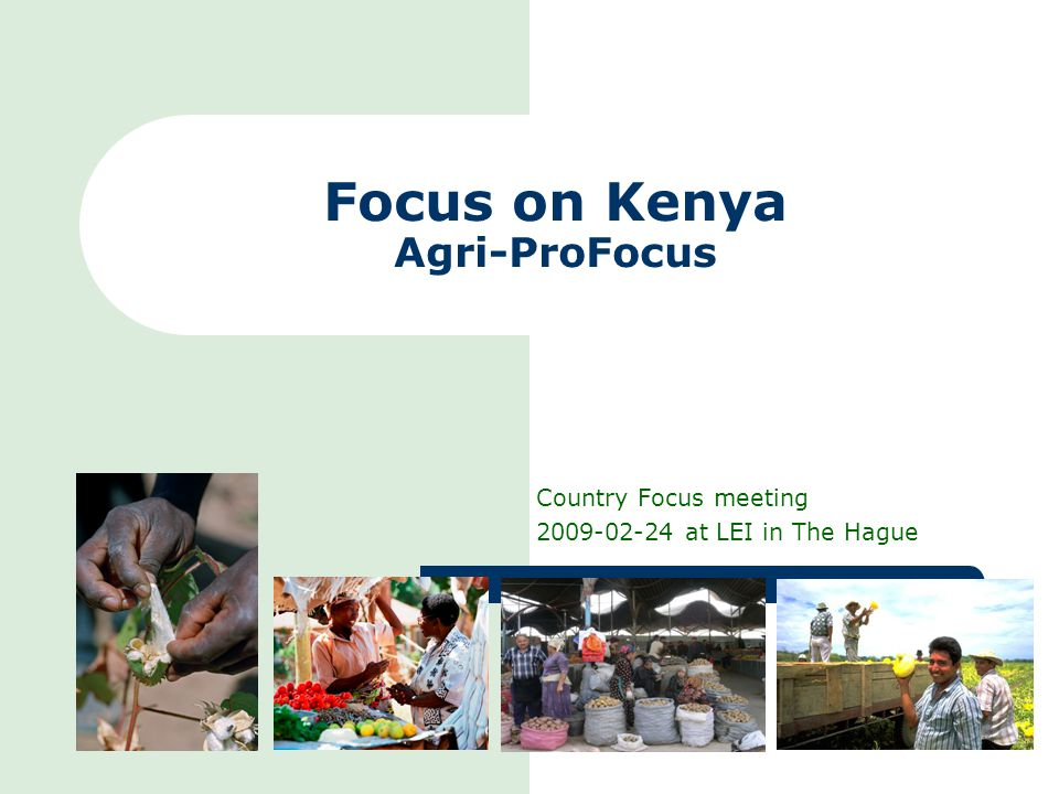 Focus on Kenya Agri-ProFocus Country Focus meeting 2009-02-24 at LEI in The Hague