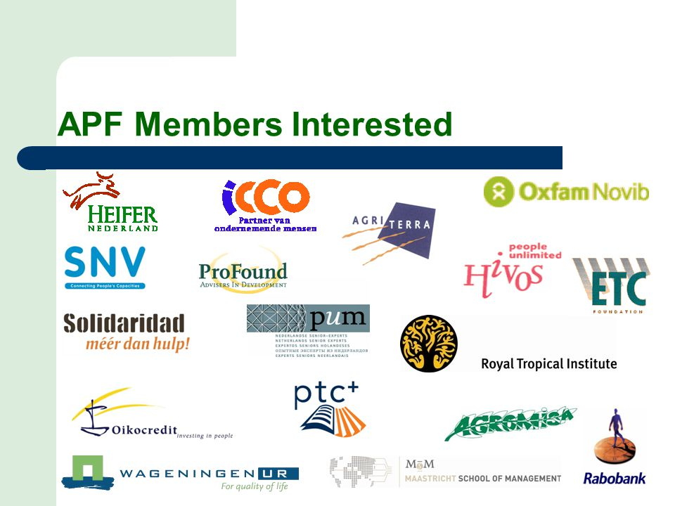 APF Members Interested