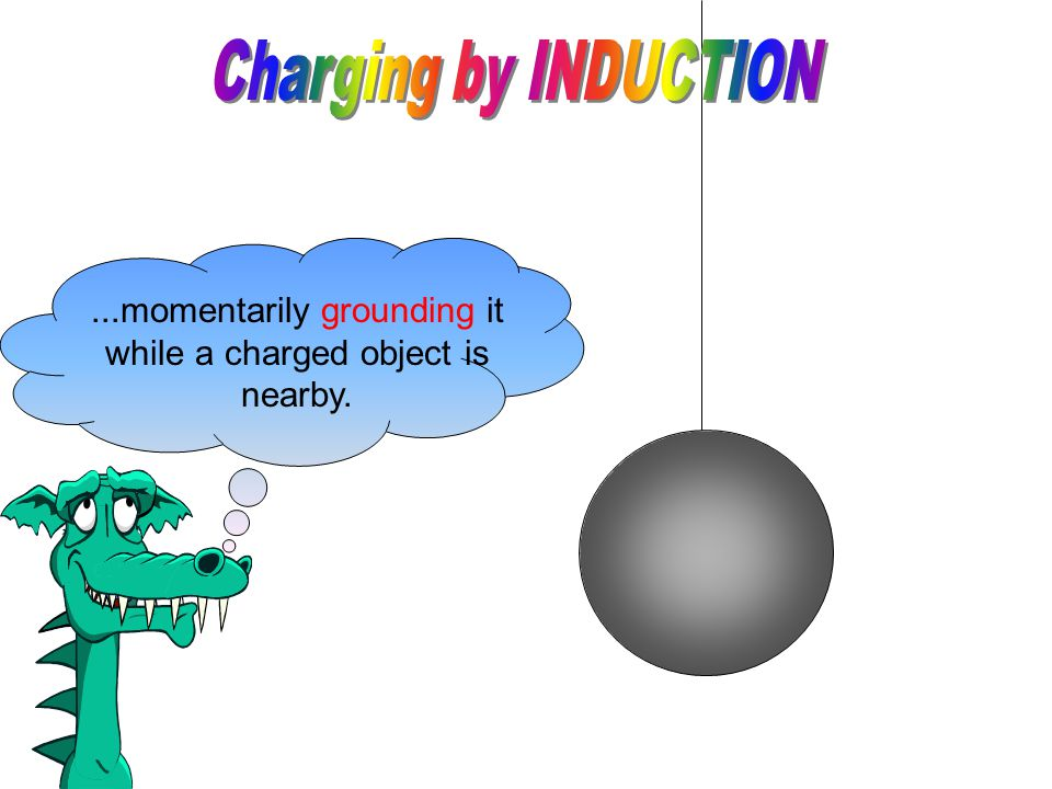 Charging by induction is the charging of an isolated conducting object by...