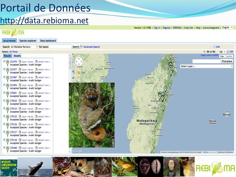Portail de Données http://data.rebioma.net