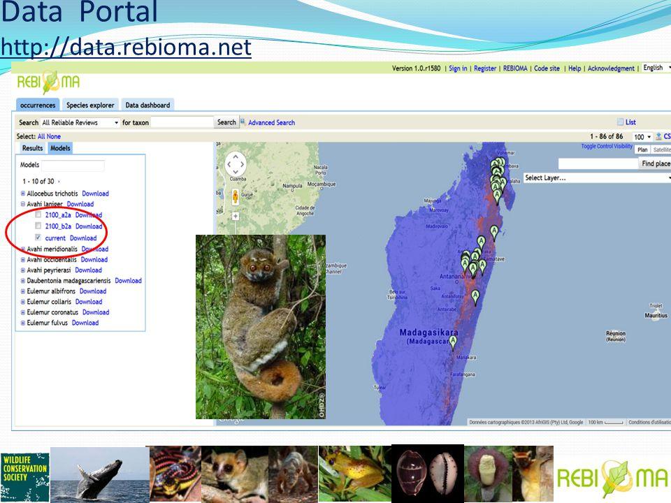 Data Portal http://data.rebioma.net