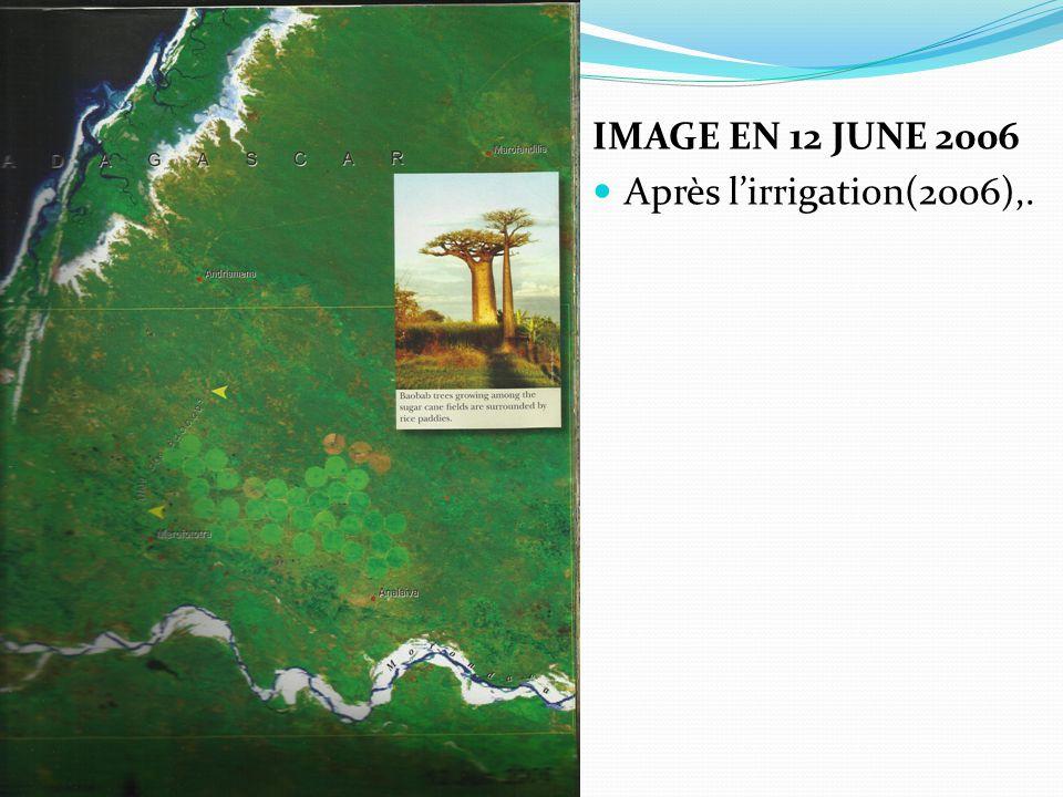 IMAGE EN 12 JUNE 2006 Après l'irrigation(2006),.