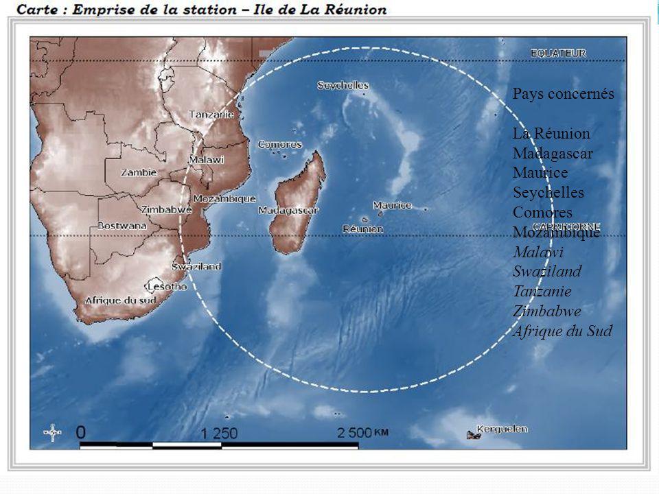Pays concernés La Réunion Madagascar Maurice Seychelles Comores Mozambique Malawi Swaziland Tanzanie Zimbabwe Afrique du Sud