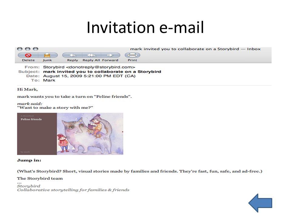 Invitation e-mail