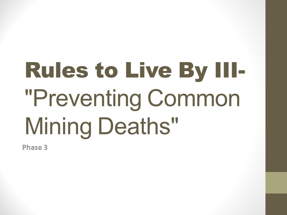 Rules to Live By III-