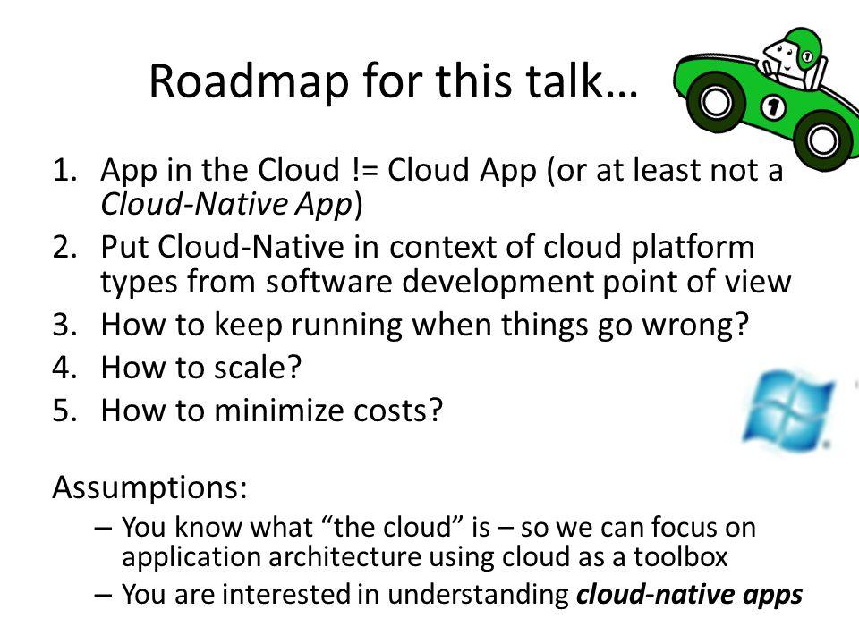 The term cloud is nebulous…