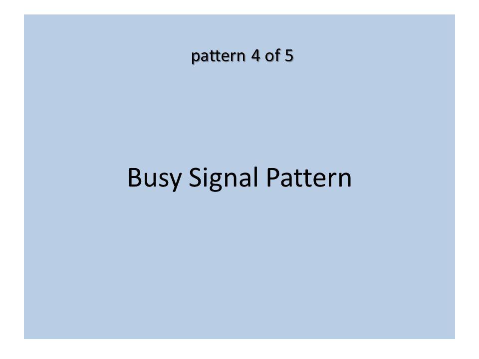 Busy Signal Pattern pattern 4 of 5