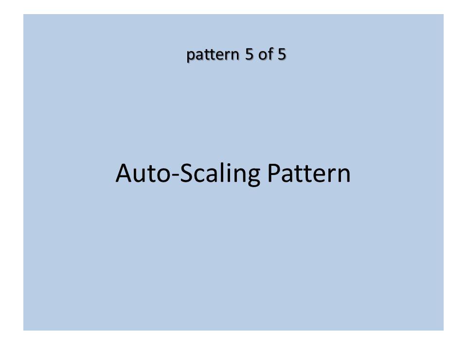 Auto-Scaling Pattern pattern 5 of 5