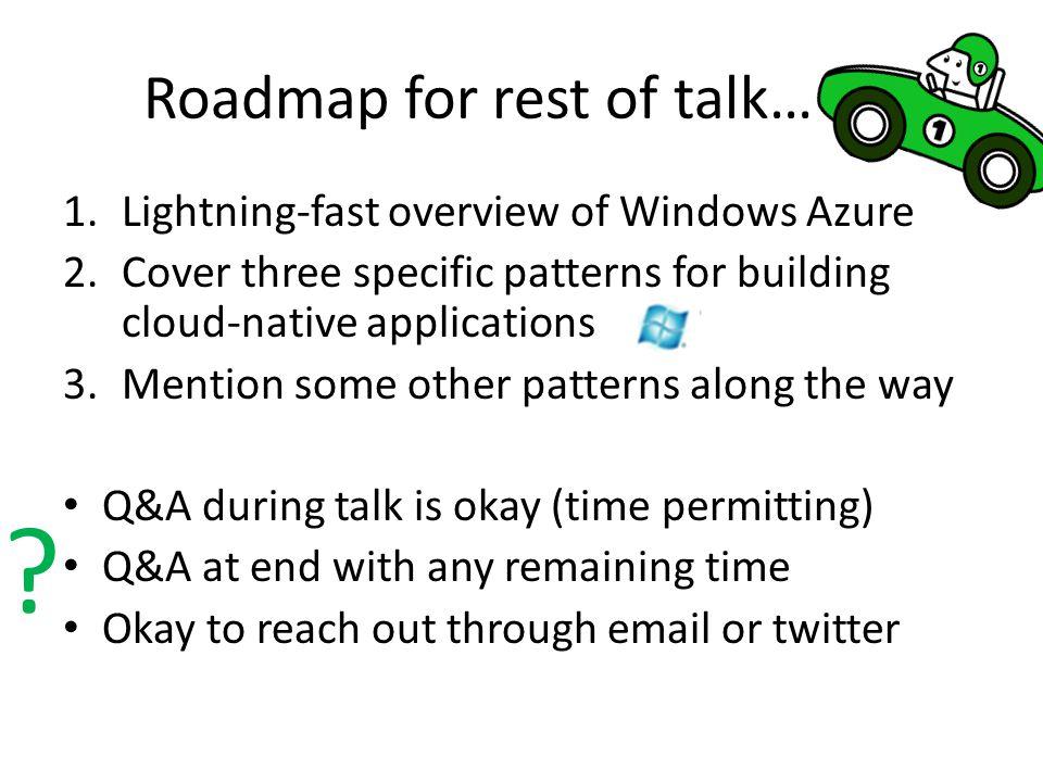 Windows Azure Portal General information http://www.windowsazure.com Management Portal http://manage.windowsazure.com
