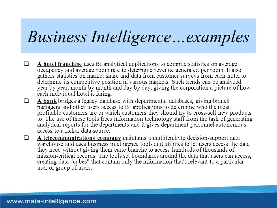 BI Industry Scenario…  Today s exciting BI market is ripe with opportunities to hit your strategic business targets.