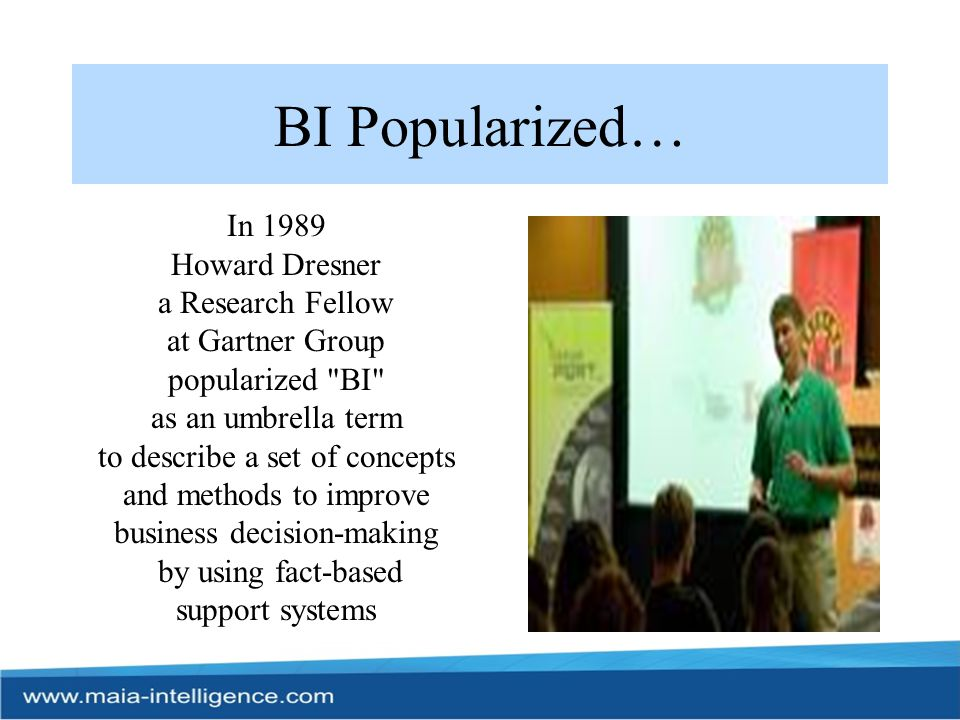 Why BI solutions ?