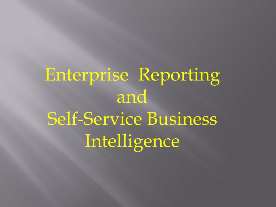  Overview of Enterprise reporting, BI and Self- Service BI  BI Architecture  Governance: ComIT, people and processes  Demos  Takeaways  Questions