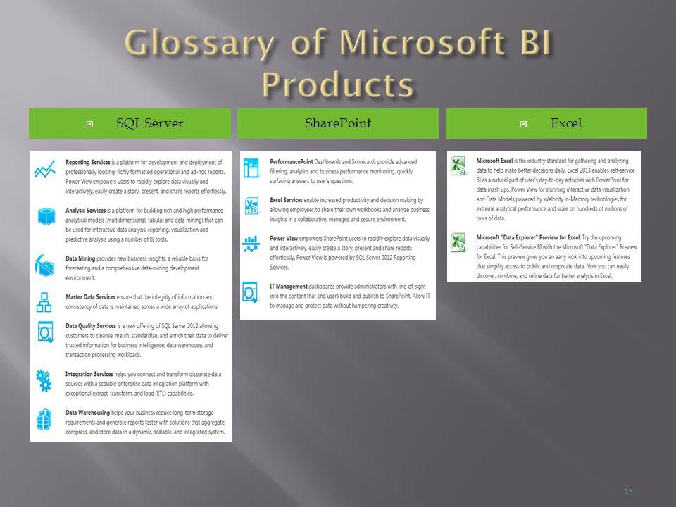  SQL Server  ExcelSharePoint 15