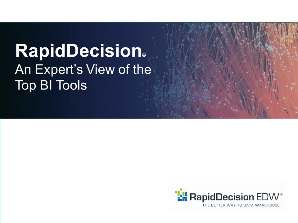 RapidDecision © An Expert's View of the Top BI Tools