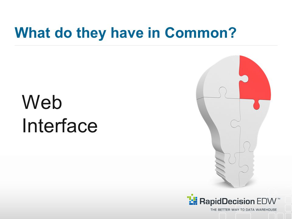 What do they have in Common Web Interface